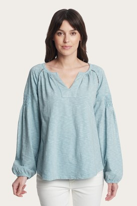 The Frye Company Solid Smocking Top