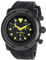 Glam Rock Women's GR61112 Miami Beach Chronograph Black Dial Black Silicone Watch
