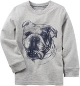 Carter's Boys Graphic Long Sleeve Bulldog T-Shirt-Preschool