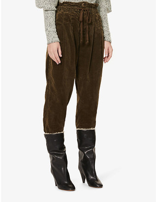 Free People Margate high-waist tapered-leg corduroy trousers
