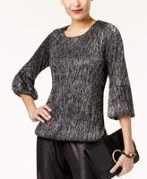 Alfani Petite Metallic Top, Created for Macy's