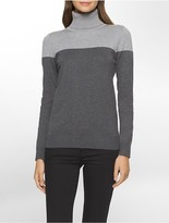 Calvin Klein Colorblock Turtleneck Sweater