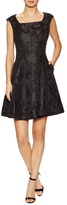 Donna Ricco Floral Jacquard Fit And Flare Dress