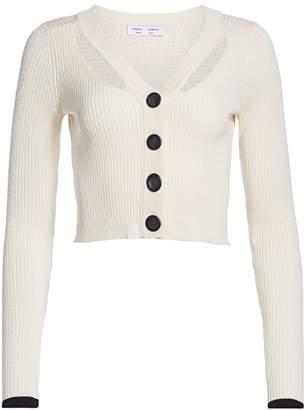 Proenza Schouler White Label Cropped Cardigan