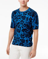 Tommy Hilfiger Men's Cotton Foliage-Pattern Short-Sleeve Sweater