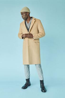 Forever 21 Notched Longline Coat