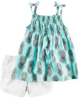 Carter's Girls 4-8 Pineapple Top & Solid Shorts Set