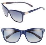 Tory Burch Women's 57Mm Gradient Sunglasses - Navy/ Blue Zig Zag