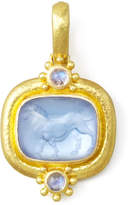 Elizabeth Locke Roaring Lion Intaglio 19k Gold Pendant