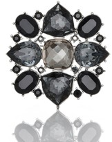 St. John Multi Tonal Swarovski Crystal Brooch