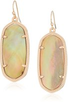 Kendra Scott Signature Elle Rose Gold Plated Brown Mother-Of-Pearl Earrings