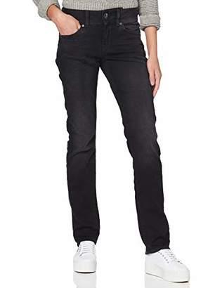 G Star Women's Midge Mid Waist Straight Jeans, (Dusty Grey B472-A799), W27/L30 (Size: 27W/ 30L)