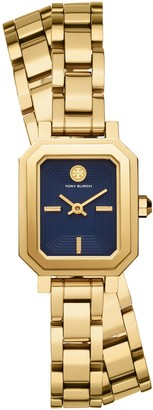 Tory Burch Robinson Mini Watch, Gold-Tone/Navy, 22 MM