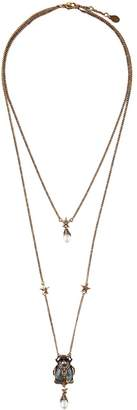 Alexander McQueen Beetle Double Chain Necklace