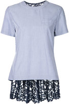 Sacai lace embellished T-shirt - women - Cotton/Nylon/Polyester/Rayon - 2