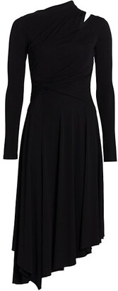 Halston Prisma Cutout Asymmetric Jersey Dress