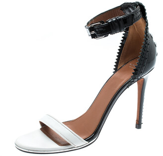 Givenchy Monochrome Leather Ankle Strap Open Toe Sandals Size 37.5