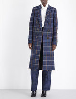 Victoria Beckham Grid-patterned double-breasted wool coat