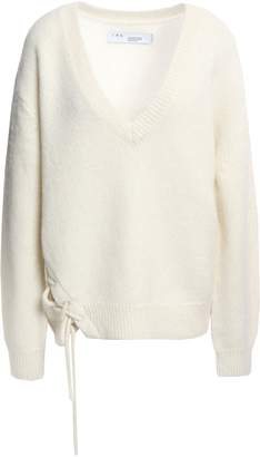 IRO Mylo Oversized Lace-up Alpaca-blend Sweater