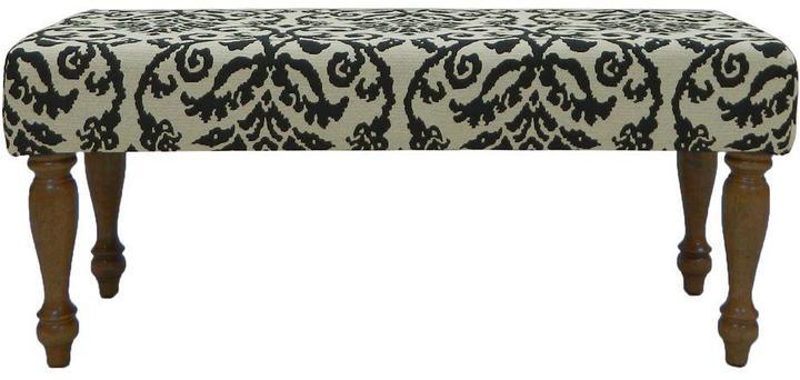 Carolina Cottage Lascada Magic Wood Upholstered Romance Bench with Chestnut Turned Legs