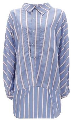 Palmer Harding Palmer//harding - Miad Oversized Ribbon-striped Poplin Shirt - Womens - Blue Multi