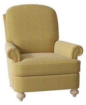 Hekman Keiffer Armchair Body Fabric: 5576-232, Leg Color: Dove Grey, Seat Cushion Fill: Extra Firm
