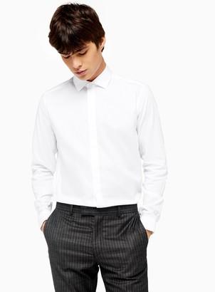 TopmanTopman Premium White Stud Jacquard Slim Shirt