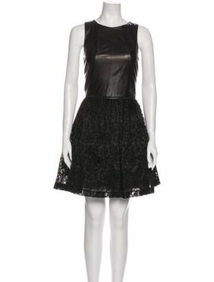 Alexis Leather Mini Dress Black