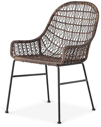 One Kings Lane Bandera Low-Arm Dining Chair - Dark Brown