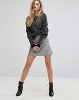 Muu Baa Muubaa Pannala Leather A-Line Skirt