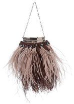Valentino Feather & Bead-Embellished Evening Bag