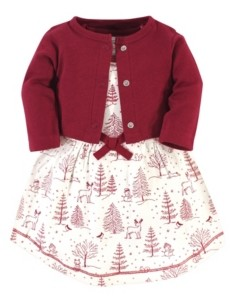 Touched by Nature Toddler Girl Dress and Cardigan Set