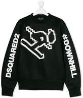 DSQUARED2 graphic print sweatshirt