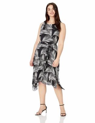 Karen Kane Women's Plus Size Handkerchief Hem Dress