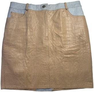 Roberto Cavalli Camel Leather Skirt for Women
