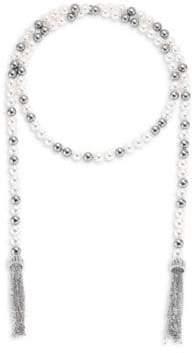 "Adriana Orsini Multi Faux-Pearl Wrap Necklace/38"""