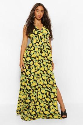 boohoo Fruit Print Maxi Dress