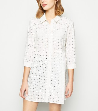 New Look JDY Broderie Shirt Dress