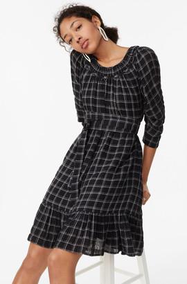 Rebecca Taylor La Vie Lurex Plaid Dress