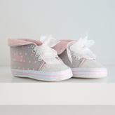 My 1st Years Girl's Glitter High Top Trainers