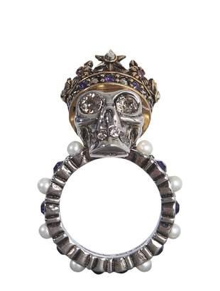Alexander McQueen skull king ring