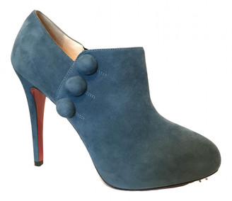 Christian Louboutin Blue Suede Ankle boots