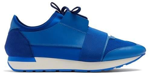 Balenciaga Race Runner Trainers - Mens - Blue
