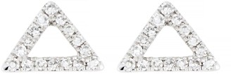 Carriere Sterling Silver Pave Diamond Open Triangle Stud Earrings - 0.10 ctw