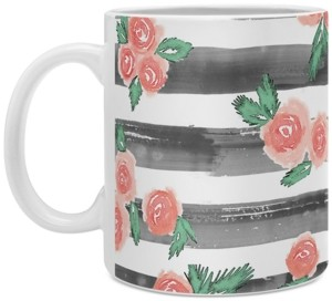 Deny Designs Dash and Ash Cheers To Rose Coffee Mug