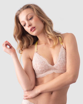 Projectme Intimates Heroine Plunge Lace Back Nursing Bra - Flexi Underwire