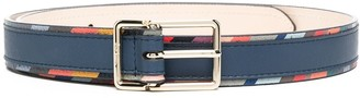 Paul Smith Striped Trim Leather Belt