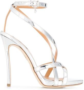 DSQUARED2 Strappy Metallic Sandals