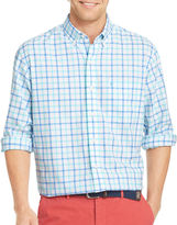 Izod Long-Sleeve Plaid Oxford Button-Front Shirt