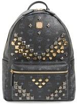 MCM 'Medium Stark - Visetos' Studded Backpack - Black